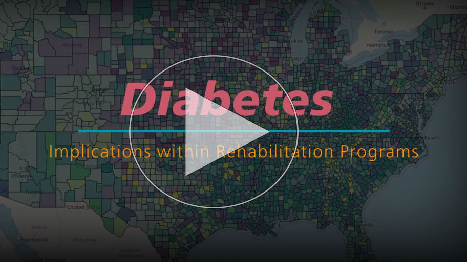 Diabetes affects every aspect of the body and can be the underlying cause of limited functional status and rehab progression.